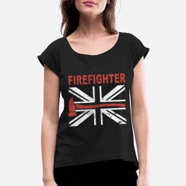Canada Firefighter FIREFIGHTER - Women's Roll Cuff T-Shirt