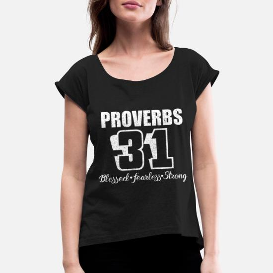 258210f36 proverbs 31 birthday t shirts Women's Rolled Sleeve T-Shirt ...