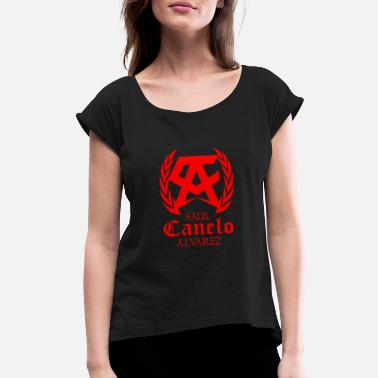 Mexican Style Team Boxing Canelo Logo - Women's Roll Cuff T-Shirt