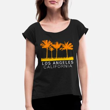 Los Angeles Los Angeles California - Women's Rolled Sleeve T-Shirt