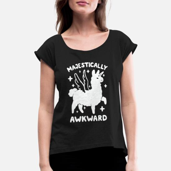 d7b4fdd3d Majestically Awkward Women's Rolled Sleeve T-Shirt | Spreadshirt