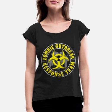 Zombie Hunter The Zombie Outbreak - Response Team - Women's Rolled Sleeve T-Shirt