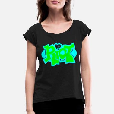 Online Gaming game online - Women's Roll Cuff T-Shirt