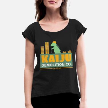 Demolition Company Kaiju Demolition Co - Women's Rolled Sleeve T-Shirt