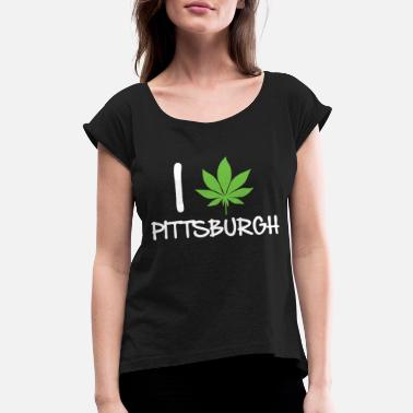 Pittsburgh Hockey Pittsburgh - pittsburgh - Women's Roll Cuff T-Shirt