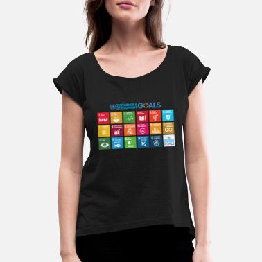Development Sustainable Development Goals chart - Women's Rolled Sleeve T-Shirt