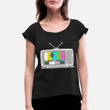 Watch Tv Watching TV - Women's Rolled Sleeve T-Shirt