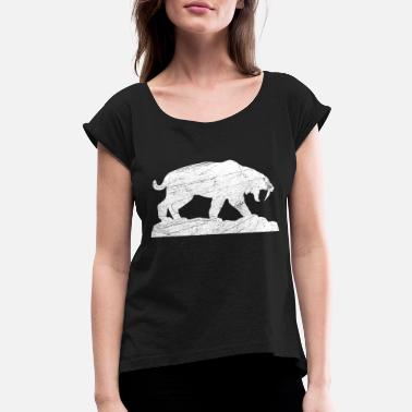 Ice Age saber tooth ice age - Women's Rolled Sleeve T-Shirt