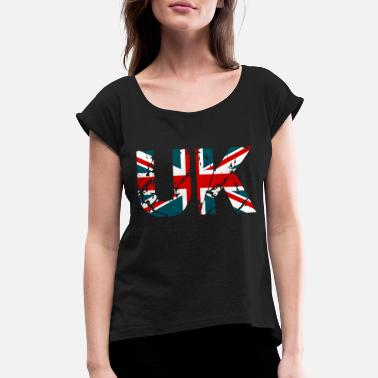 United Kingdom - Women's Rolled Sleeve T-Shirt