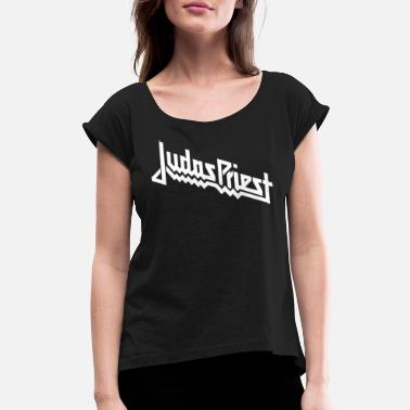 Priest JUDAS PRIEST LOGO - Women's Rolled Sleeve T-Shirt