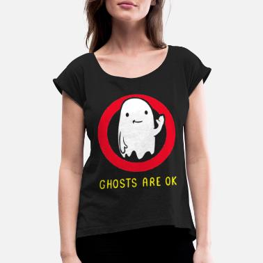 Image paranormal creepy ghost hunter - Women's Rolled Sleeve T-Shirt
