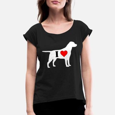 I Heart I Heart Labrador - Women's Rolled Sleeve T-Shirt