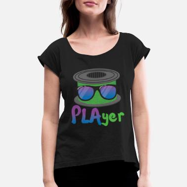 3d 3D Printing PLAyer Funny 3D Print cool Sunglasses - Women's Rolled Sleeve T-Shirt
