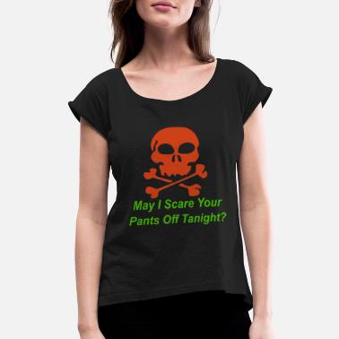 Pickup Line Halloween pickup line - Women's Roll Cuff T-Shirt