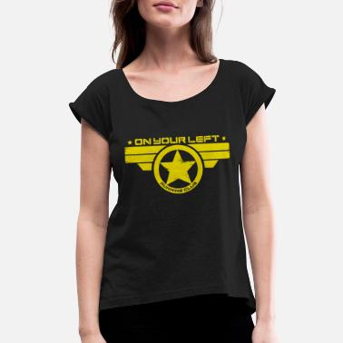 America captain america - Women's Rolled Sleeve T-Shirt