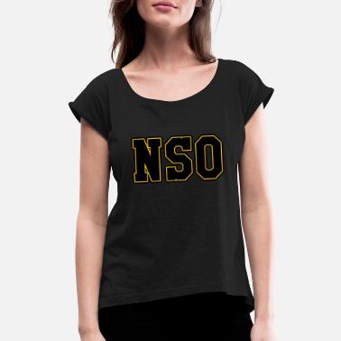 Derbyshire NSO Non Skating Official Tshirt Roller Derby - Women's Rolled Sleeve T-Shirt