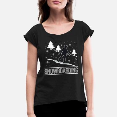 Snowboard SNOWBOARDING - Women's Rolled Sleeve T-Shirt