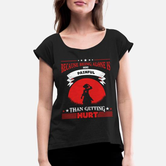 0e99d255 LUFFY QUOTE - ONE PIECE - Women's Rolled Sleeve T-Shirt. Back. Back.  Design. Front