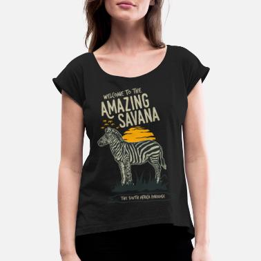 Zebras Zebra - Women's Rolled Sleeve T-Shirt
