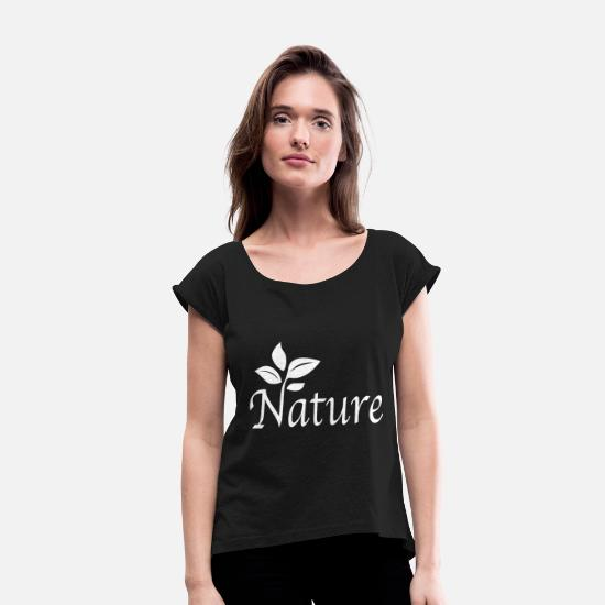 Outdoor T-Shirts - Nature - Women's Rolled Sleeve T-Shirt black