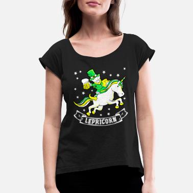 Folklore Lepricorn Irish Folklore Stories - Women's Rolled Sleeve T-Shirt
