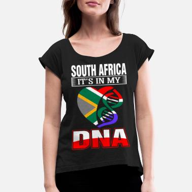 Africa South Africa DNA Tshirt - Women's Rolled Sleeve T-Shirt