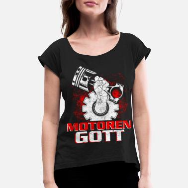 Guft Car Wrench Tuning Funny Statement Guft - Women's Rolled Sleeve T-Shirt