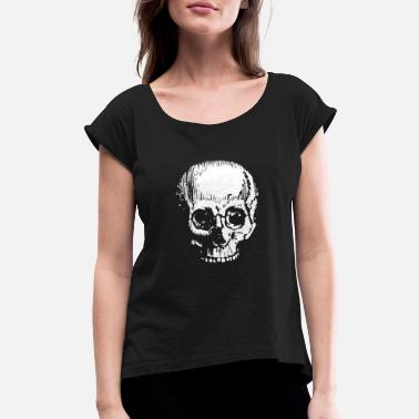 Large Large Skull - Women's Rolled Sleeve T-Shirt
