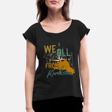 Autonomy Kurdistan home gift idea - Women's Roll Cuff T-Shirt