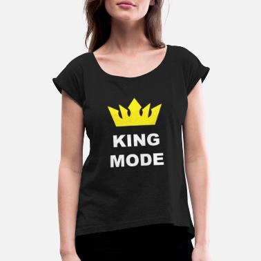Emblem King Mode Grind Mode Gift - Women's Rolled Sleeve T-Shirt