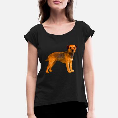 Border Border Terrier Shirt - Women's Rolled Sleeve T-Shirt