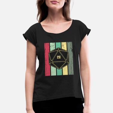 Natural 20 Natural 20 Retro d20 Game Shirt - Women's Roll Cuff T-Shirt