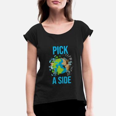 Ecology Climate Change Shirt Environmental Ecology Gift - Women's Rolled Sleeve T-Shirt