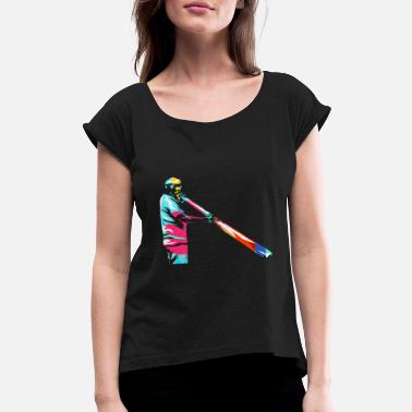 Wind Instrument Didgeridoo - Women's Rolled Sleeve T-Shirt