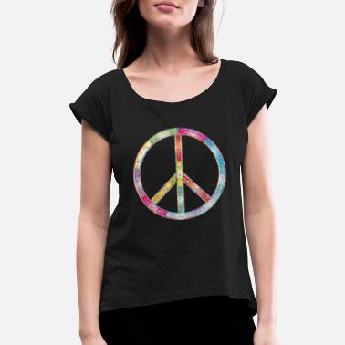 Peace Movement Flourishing Peace - Women's Rolled Sleeve T-Shirt