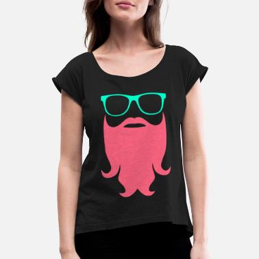 Story Hipster Sunglasses - Women's Rolled Sleeve T-Shirt