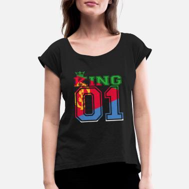 Eritrea couple land king 01 prince Eritrea - Women's Roll Cuff T-Shirt