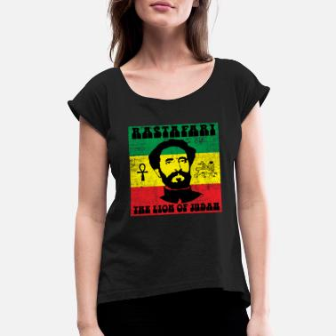 Regge Reggae - Women's Rolled Sleeve T-Shirt