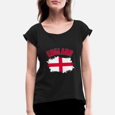 England Flag English Flag England flag - Women's Roll Cuff T-Shirt