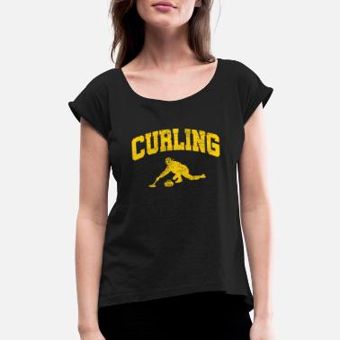 Curling Player Curling Player - Women's Roll Cuff T-Shirt