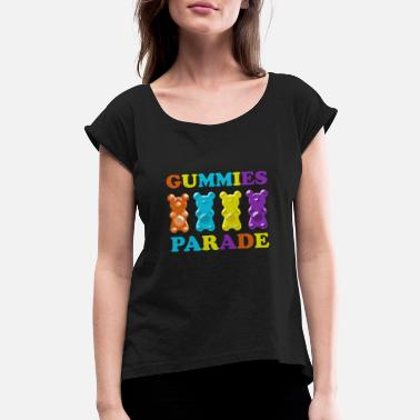 Parade Gummies Parade - Women's Rolled Sleeve T-Shirt