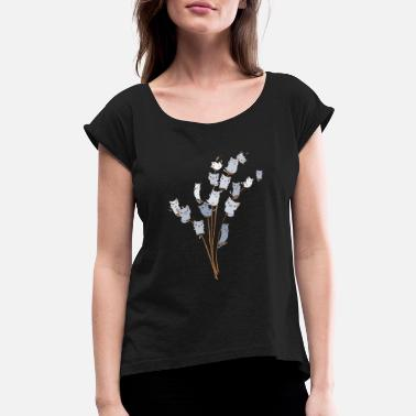 Cat Tree Cats On Tree t-shirt - Women's Rolled Sleeve T-Shirt