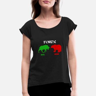 Day Trading Forex Trading - Women's Rolled Sleeve T-Shirt
