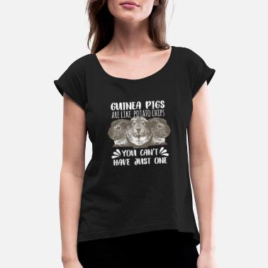 Advice sweet Guinea pig Guinea pig Guinea pig G Quote fun - Women's Rolled Sleeve T-Shirt