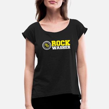 Wait Rock washes - gold panning and gold prospecting - Women's Rolled Sleeve T-Shirt