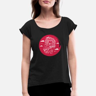 Chinese Chinese Dragon - Women's Rolled Sleeve T-Shirt