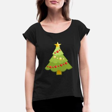 Decoration Christmas decoration tree - Women's Rolled Sleeve T-Shirt