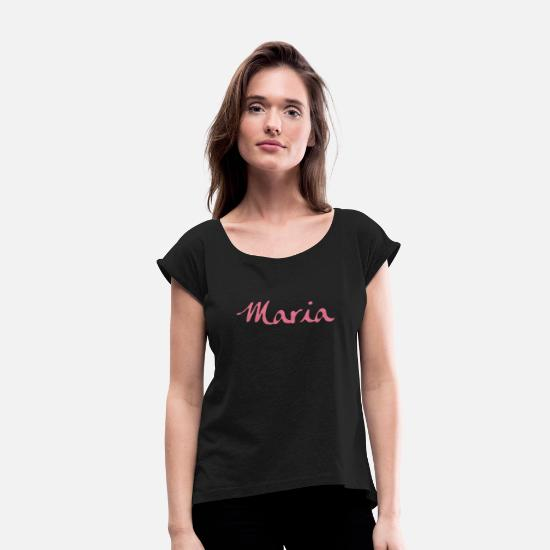 Maria T-Shirts - Maria - Women's Rolled Sleeve T-Shirt black