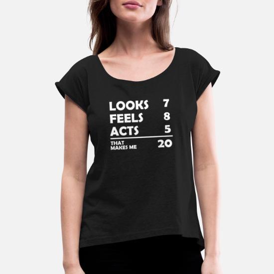 Lustiges 20 Geburtstag T Shirt Geschenk Womens Rolled
