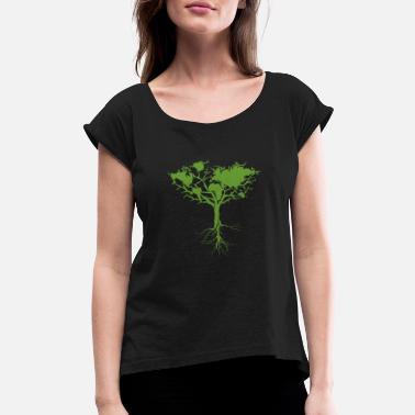 Tree Earth Tree Classic - Women's Rolled Sleeve T-Shirt